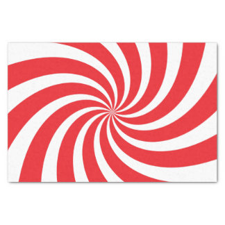 "Christmas Tissue Paper Peppermint Candy Cane Swirl 10"" X 15"" Tissue Paper"