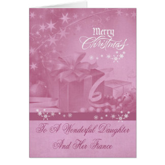Christmas To Daughter And Fiance Greeting Card