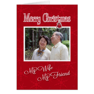 Christmas, to My Wife- Photo card template