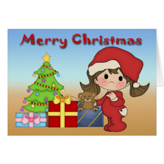Christmas Toddler Girl Greeting Card