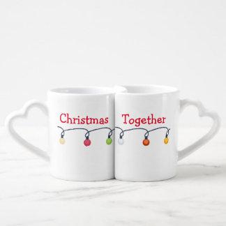 Christmas together couples mug