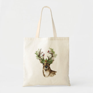 Christmas Tote with Christmas Deer