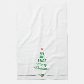 Christmas Towel with Christmas Tree