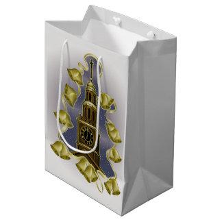 Christmas Tower Bells Medium Gift Bag