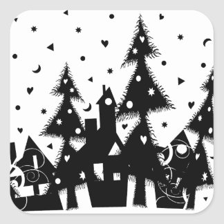 Christmas Town Square Stickers