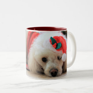 Christmas toy poodle coffe mug