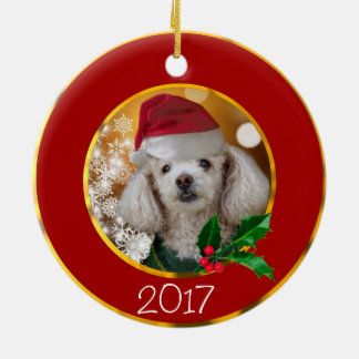 Christmas Toy poodle Ornament