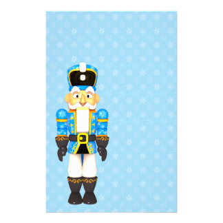 Christmas Toy Soldier Holiday Blue Stationery