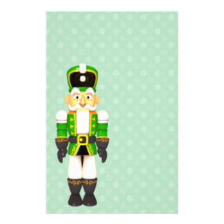Christmas Toy Soldier Holiday Green Stationery