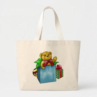 Christmas Toy Teddy Bear Tote Bag