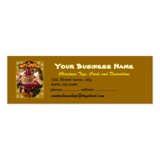 Christmas Toys, Cards and Decorations Pack Of Skinny Business Cards