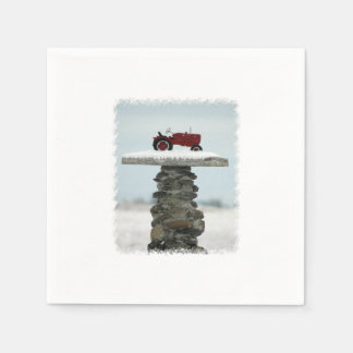Christmas Tractor Paper Napkins
