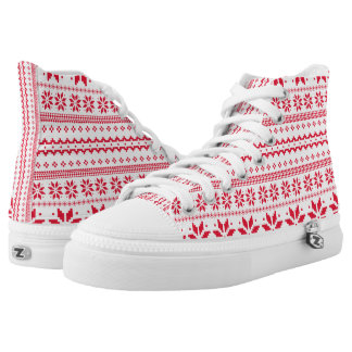 Christmas Traditional Art Pattern High Tops