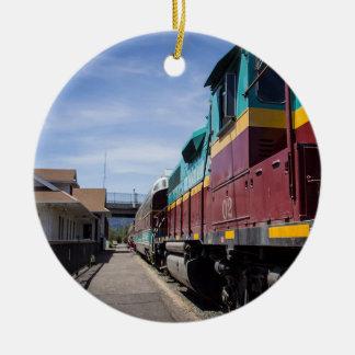 Christmas Train Ceramic Ornament