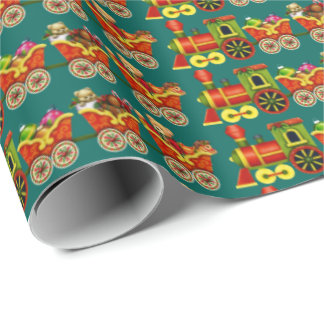 Christmas Train Holiday wrapping paper