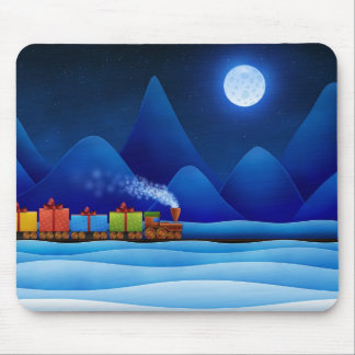 Christmas Train Mouse Pad