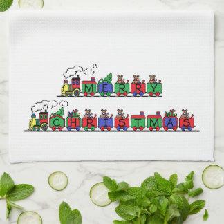 Christmas Train Tea Towel
