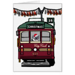 Christmas Tram Greeting Cards