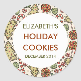 Christmas Treats Holiday Baking Labels Round Sticker