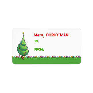 Christmas Tree2 Gift Tag Label Address Label