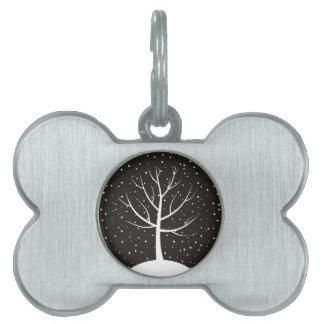 Christmas tree3 pet ID tag