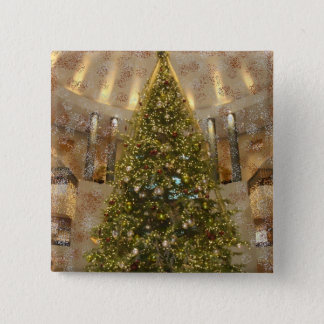 Christmas Tree 15 Cm Square Badge