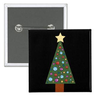 Christmas Tree 15 Cm Square Badge