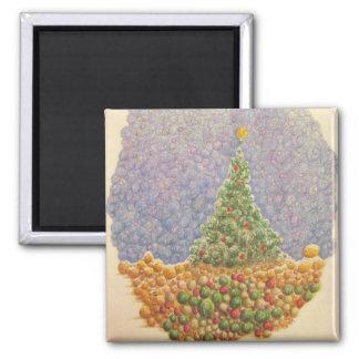 Christmas Tree 2009 Square Magnet