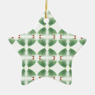 christmas tree 2 ceramic star decoration