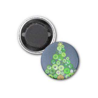 Christmas Tree 3 Cm Round Magnet