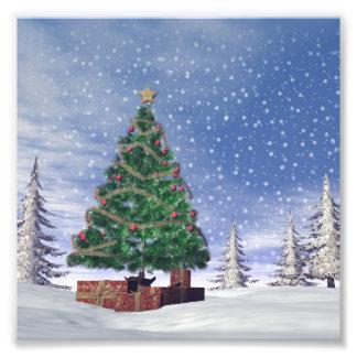 Christmas tree - 3D render Photo Print