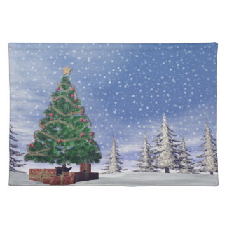 Christmas tree - 3D render Placemat