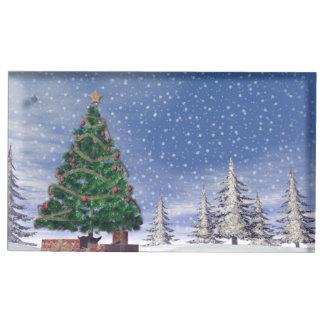 Christmas tree - 3D render Table Card Holder