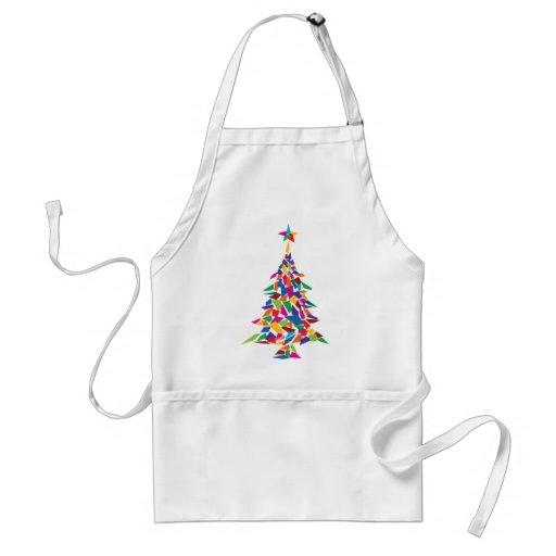 christmas tree abstract apron