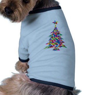 christmas tree abstract dog clothes