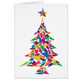 christmas tree abstract greeting card
