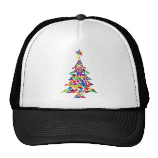 christmas tree abstract hat