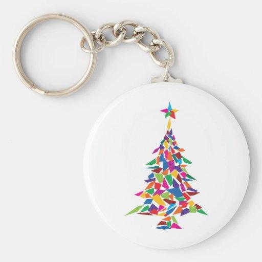 christmas tree abstract key chains