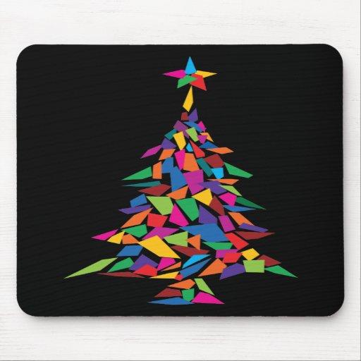 christmas tree abstract mouse pad