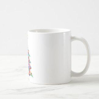 christmas tree abstract mug