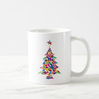 christmas tree abstract coffee mugs