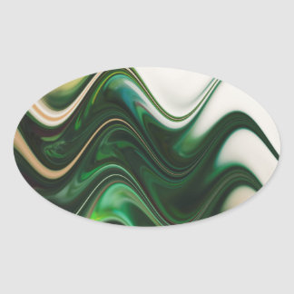 Christmas Tree Abstract Oval Sticker