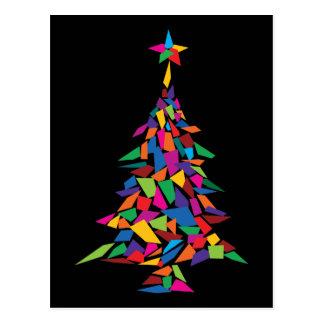 christmas tree abstract postcard