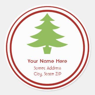 Christmas Tree Address Label Sticker
