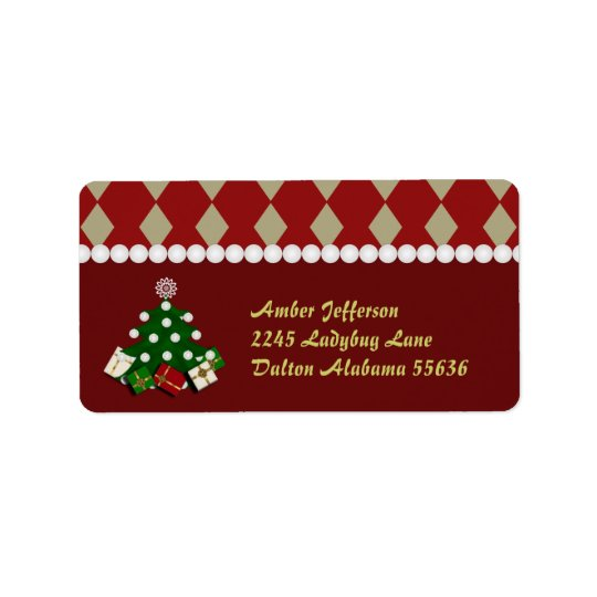Christmas Tree Address Stickers