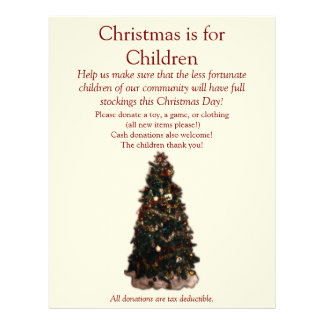 Christmas Tree - ALL text can be changed. Personalized Flyer