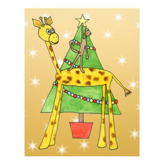 Christmas Tree and Animals. Custom Flyer