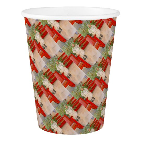 Christmas Tree and Child in Furs Paper Cup