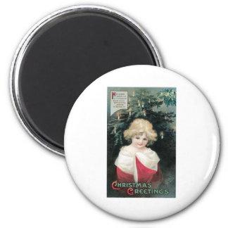 Christmas Tree and Child Fridge Magnets