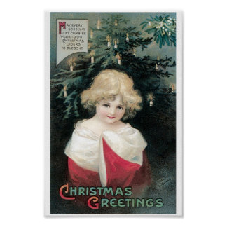 Christmas Tree and Child Poster